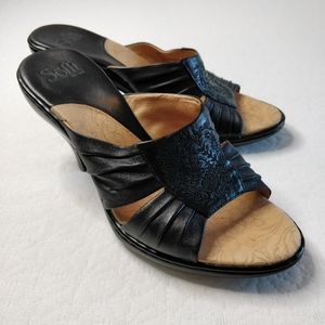Söfft Heeled Leather Sandals